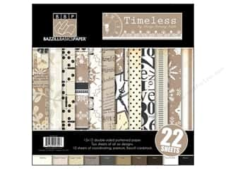 Weekly Specials Inkadinkado Stamping Gear: Bazzill Multi Pack 12x12 22pc Timeless