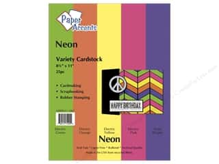 Oasis Cardstock Variety Pack by Paper Accents: Cardstock Variety Pack 8 1/2 x 11 in. Neon 25 pc. by Paper Accents