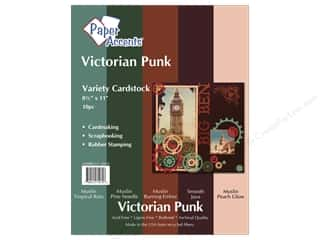 "Paper Accents Cdstk VP 8.5""x 11"" Victorn Punk 10pc"