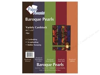 "Paper Accents Cardstock Variety Pack 8.5""x 11"" Baroque Pearls 10pc"