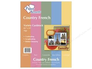 Scrapbooking $8 - $15: Cardstock Variety Pack 8 1/2 x 11 in. Country French 15 pc. by Paper Accents
