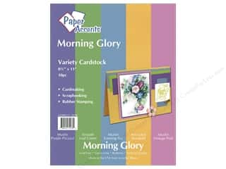 "Paper Accents Cdstk VP 8.5""x 11"" MorningGlory 10pc"
