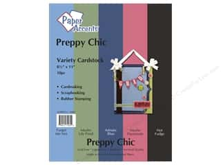 "Paper Accents Cardstock Variety Pack 8.5""x 11"" Preppy Chic 10pc"