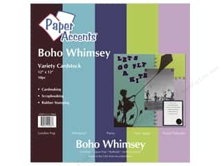 Paper Accents Cardstock VP 12x12 Boho Whimsey 10pc