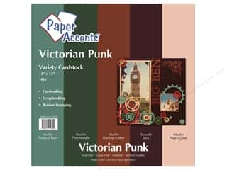 Paper Accents Crdstk VP 12x12 Victorian Punk 10pc