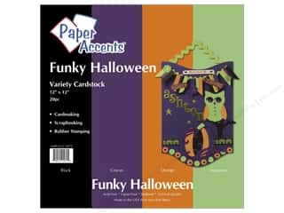 Paper Accents Crdstk VP 12x12 Funky Halloween 20pc