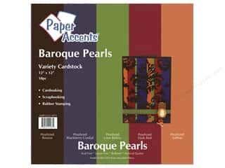 "Paper Accents Cardstock Variety Pack 12""x 12"" Baroque Pearls 10pc"