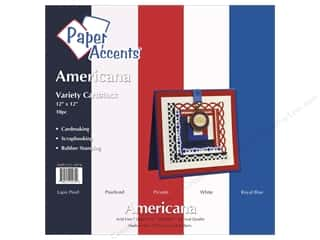 Paper Accents Cardstock VP 12x12 Americana 10pc