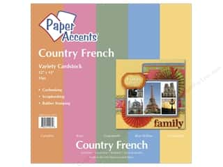 "Paper Accents Cardstock Variety Pack 12""x 12"" Country French 15pc"