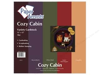 Paper Accents Cardstock VP 12x12 Cozy Cabin 10pc