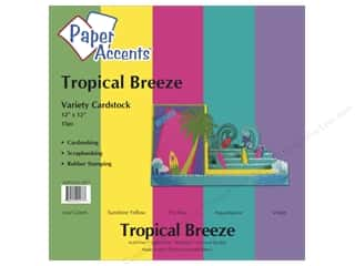 "Paper Accents Cardstock Variety Pack 12""x 12"" Tropical Breeze 15pc"