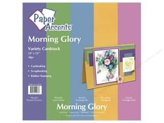 Paper Accents Crdstk VP 12x12 Morning Glory 10pc