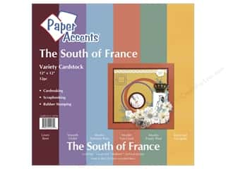 "Paper Accents Cardstock Variety Pack 12""x 12"" South of France 12pc"