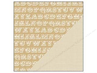 Bazzill $8 - $12: Bazzill 12 x 12 in. Paper Basics Kraft Alphabet Soup/Houndstooth 25 pc.