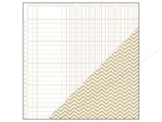 Bazzill Paper 12x12 Basics Kraft Bookkeeper/Chevron 25pc
