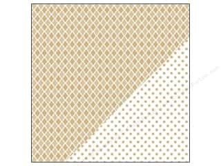 Bazzill Paper 12x12 Basics Kraft Mosaic/Big Dot 25pc