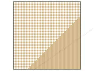 Bazzill Paper 12x12 Basics Kraft Picnic Plaid/Ticking 25pc