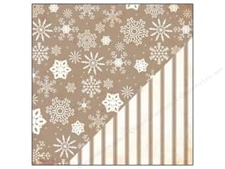 Bazzill Paper 12x12 Timeless Snow Storm/PillowTick