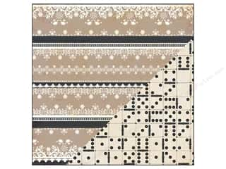 Bazzill Paper 12x12 Timeless Boudoir/Dominoes 25pc