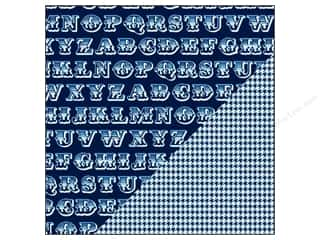 Bazzill $8 - $12: Bazzill 12 x 12 in. Paper Basics Huckleberry Pie Alphabet Soup/Houndstooth 25 pc.