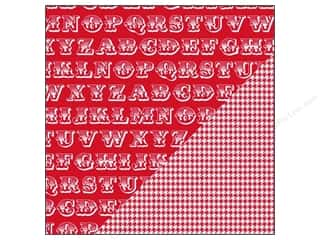Bazzill Paper 12x12 Basics Red Devil Alphabet Soup/Houndstooth 25pc