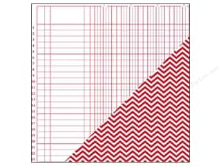 Bazzill Paper 12x12 Basics Red Devil Bookkeeper/Chevron 25pc