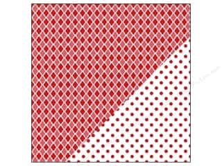 Bazzill Paper 12x12 Basics Red Devil Mosaic/Big Dot 25pc