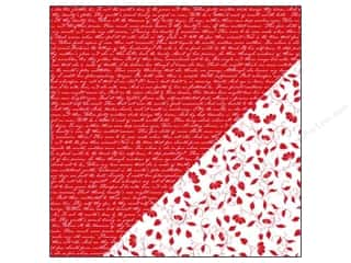 Bazzill Paper 12x12 Basics Red Devil Sonnet/Garden Vines 25pc