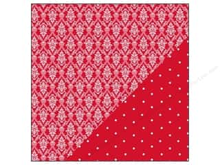 Bazzill Paper 12x12 Basics Red Devil Wallpaper/Little Dot 25pc