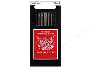 Needles, Pullers, Cases & Threaders: Hemming Needle Milliners/Straw Size 1 12pc (3 packages)