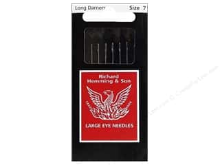 darning needle: Hemming Needles Long Darner Size 7 6pc (3 packages)