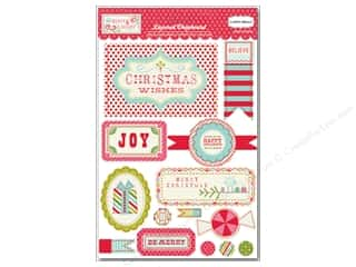 Carta Bella Dimensional Stickers: Carta Bella Layered Chipboard Merry & Bright