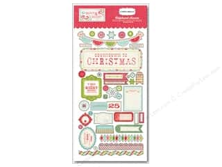 Christmas paper dimensions: Carta Bella Chipboard Accents Merry & Bright