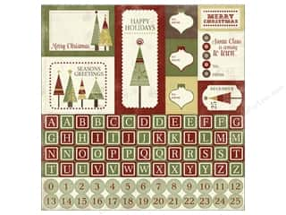 Carta Bella Sticker 12 x 12 in. Christmas Day Alphabet (15 piece)