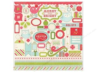 Carta Bella Theme Stickers / Collection Stickers: Carta Bella Sticker 12 x 12 in. Merry & Bright Element (15 pieces)