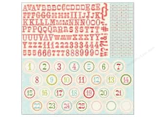 Carta Bella $20 - $25: Carta Bella Sticker 12 x 12 in. Merry & Bright Alphabet (15 pieces)