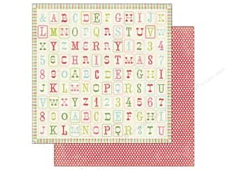 Carta Bella Printed Cardstock: Carta Bella 12 x 12 in. Paper Merry & Bright Merry Alphabet (25 pieces)