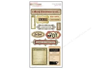 Scrapbooking Designer Papers & Cardstock: Glitz Design Sticker Cardstock Joyeux Noel Titles