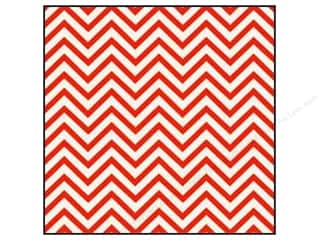 Crate Paper 12x12 Sleigh Ride Red Glitter Chevron (15 piece)