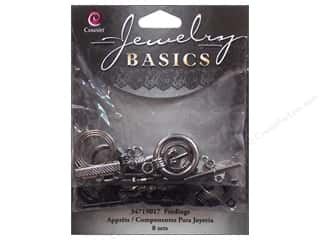 Clasps: Cousin Findings Toggle Clasp Gunmetal/Black 8 sets