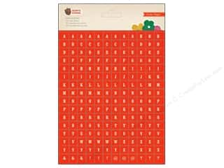 Crate Paper Stickers Acorn Ave Mini Alphabet Red