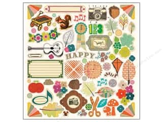 Crate Paper Crate Paper Stickers: Crate Paper Stickers Acorn Ave Chipboard Accent