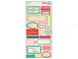 phrase stickers: Crate Paper Stickers Sleigh Ride Phrase