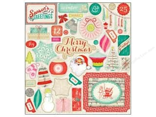 Crate Paper Stickers Sleigh Ride Chipboard Accent