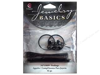 Cousin Findings Earring Starter Black 51pc