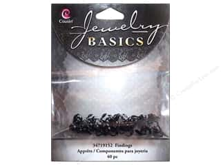 Cap  Findings / Spacer Findings: Cousin Findings Crimp Cover Black 40pc