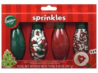 Wilton Edible Deco Sprinkles Christmas Lt Bulb 4pc