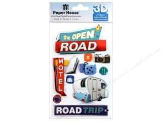 Stickers $3 - $4: Paper House Sticker 3D Road Trip