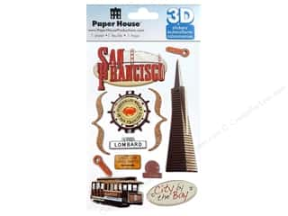 Paper House Sticker 3D San Francisco