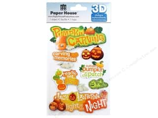 PaperHouse: Paper House Sticker 3D Pumpkin Carving